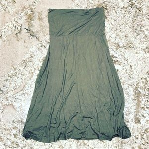 Olive Green Convertible Strapless Dress or Skirt